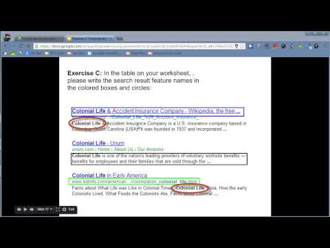 Google Search Education - Lesson 2 - Understanding Search Results