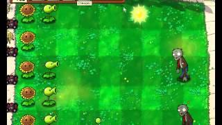 Plants vs Zombies уровень 1-4