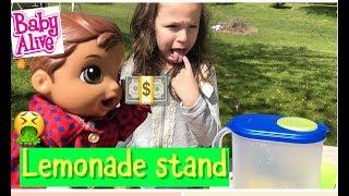 BABY ALIVE Lukes  Lemonade Stand baby alive videos