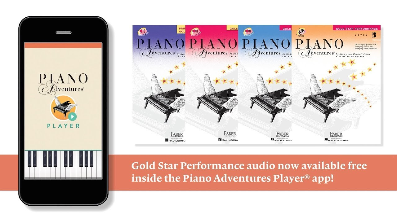 Gold Star Audio Now Available in the Piano Adventures Player