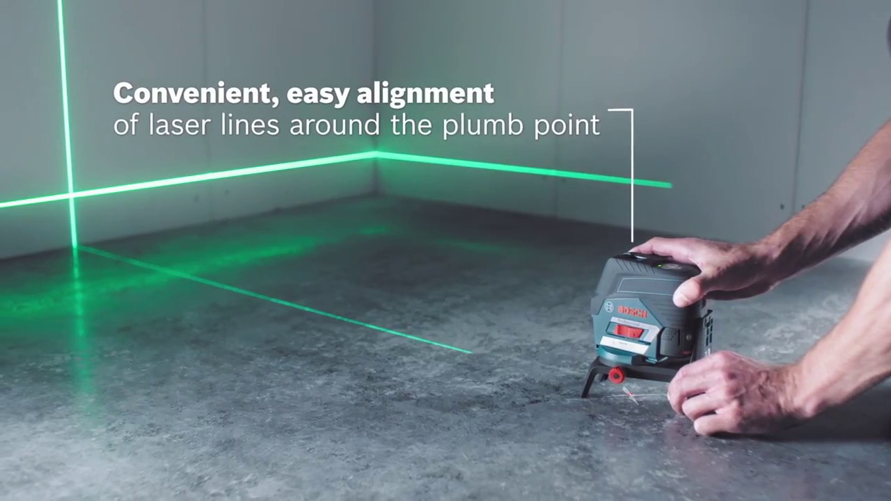 bosch gcl 2-50 cg green beam combi laser - simply connected with