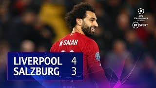 Liverpool vs Salzburg (4-3) | UEFA Champions League Highlights