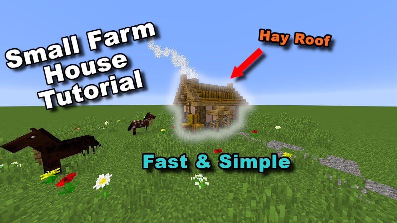 Minecraft Small Farmhouse Tutorial See More