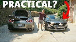 Nissan GT-R vs Audi R8: Practicality Test!