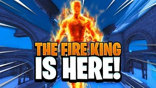 FIRE KING Melting the ICE STORM in FORTNITE! - FIRE KING THEORY EXPLAINED (ICE KING vs FIRE KING)