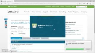installing VMware Horizon Client