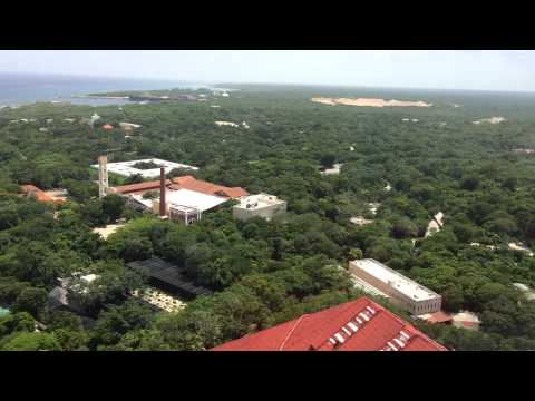 Xcaret park from the air, Playa del Carmen, Mexico