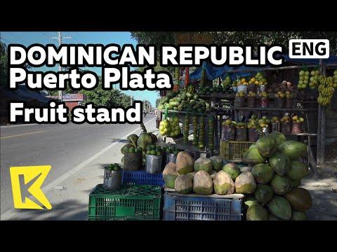【K】Dominican Republic Travel-Puerto Plata[도미니카 여행-푸에르토 플라타]길에서 만난 과일 노점상/Tropical Fruits