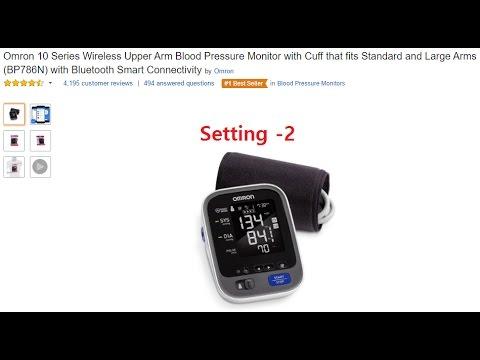 [Amazon] Omron 10 Series Wireless Upper Arm Blood Pressure Monitor  (BP786N) - Setting 2
