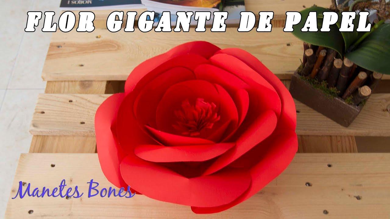 Flor De Papel Gigante Giant Paper Flower Tutorial Diy Youtube