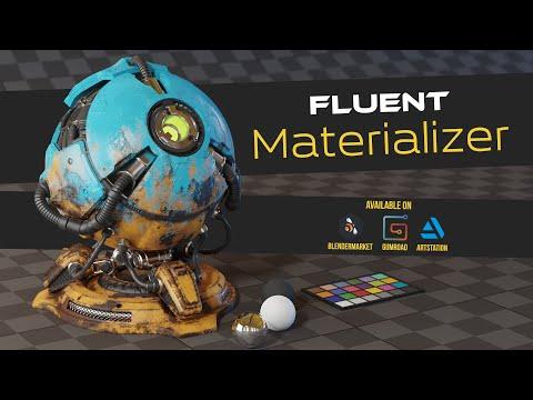Fluent : Materializer - Procedural texture - Blender add-on