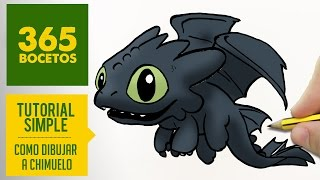 COMO DIBUJAR A CHIMUELO KAWAII PASO A PASO - Dibujos kawaii faciles - How to draw a  toothless