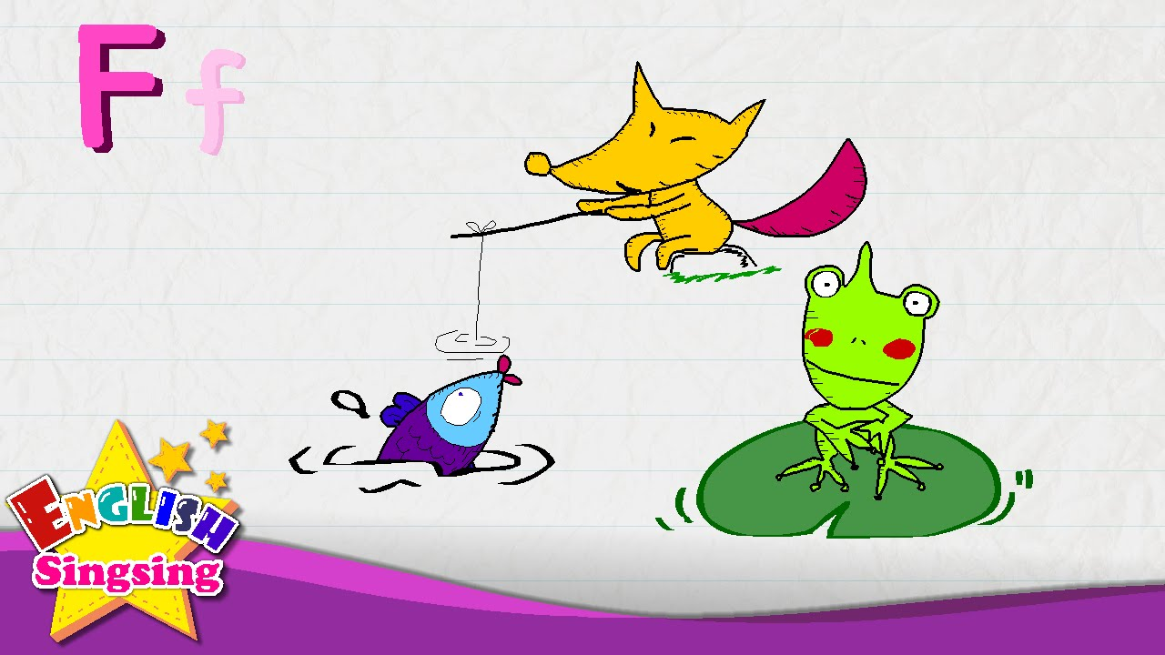 f is for fish fox frog letter f alphabet song learning english for kids