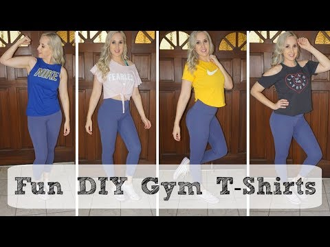 How to Cut a T-shirt | DIY Gym Shirts