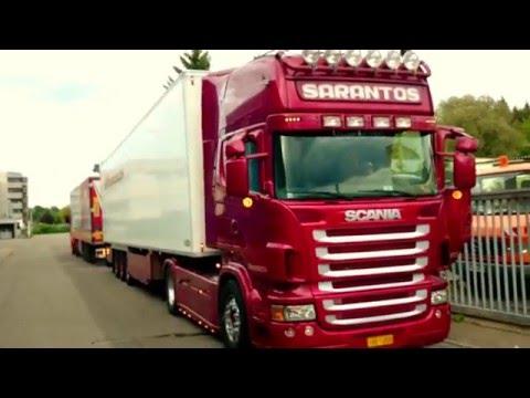 Sarantos Scania V8 with open Pipe