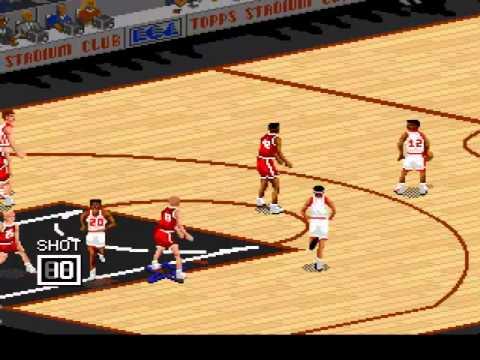 NBA Live '95 (SNES) Chicago Bulls vs Miami Heat
