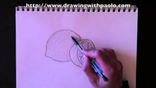 Drawing a lemon with Paolo Morrone