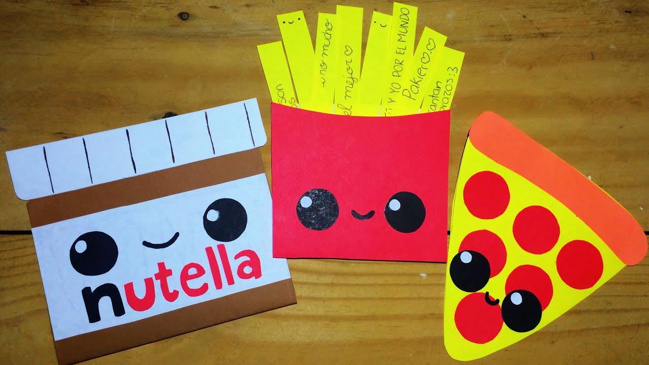 Tarjetas de comidita kawaii youtube - Manualidades para hacer tarjetas ...