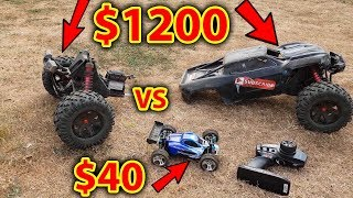 $40 RC Car VS $1200 RC Car - Destroyed!!!