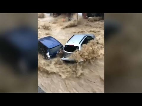 Flash flooding causes chaos in parts of Baltimore
