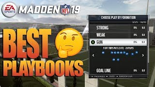 Top 5 BEST Playbooks In Madden 19 To Win More Games!