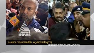 Protest in Sannidhanam; Protesters responds against police