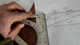 Проект ДАЧНИК часть 3 - разметка будущей лопасти на деревянной заготовке