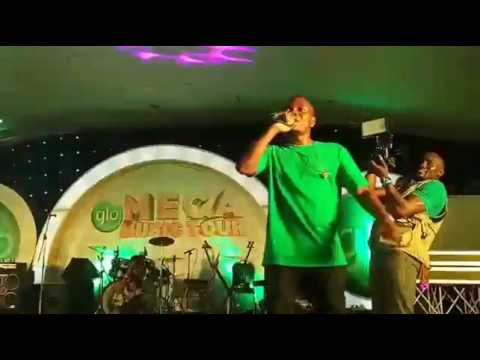 Olamide performs at #GloMegaMusicTourAwka