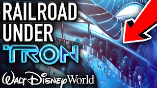 Walt Disney World Railroad Construction UNDER TRON COASTER! - Disney News