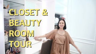 MY CLOSET & BEAUTY ROOM TOUR | ALL WHITE THEME
