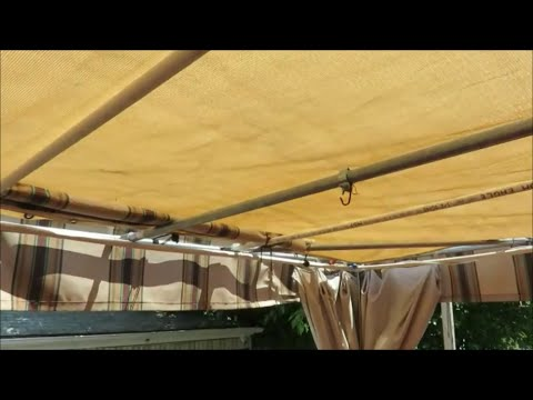 building a structural awning sail shades triangular doovi