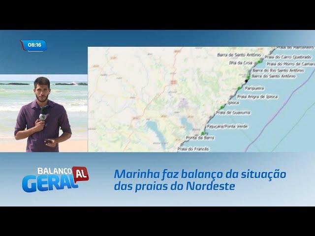 Marinha faz balanço da situação das praias do Nordeste