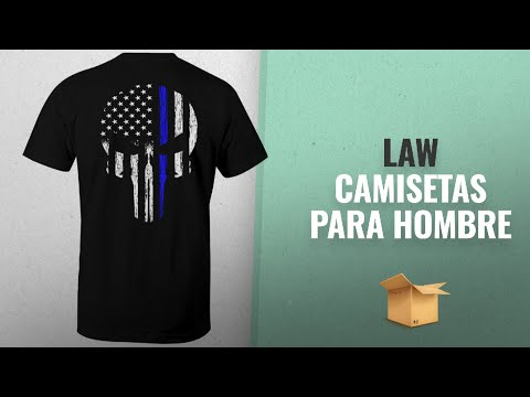 Productos 2018, Los 10 Mejores Law: Fantastic Tees Thin Blue Line Leo Police USA Skull Flag Men's T