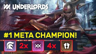 #1 META CHAMPION! High Rank Trolls Warlocks & Demons! | Dota Underlords