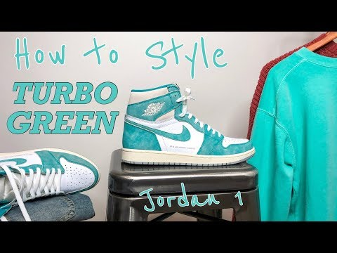 "HOW TO STYLE - AIR JORDAN 1 ""TURBO GREEN"" OG HIGH - 3 OUTFITS & ON FEET"