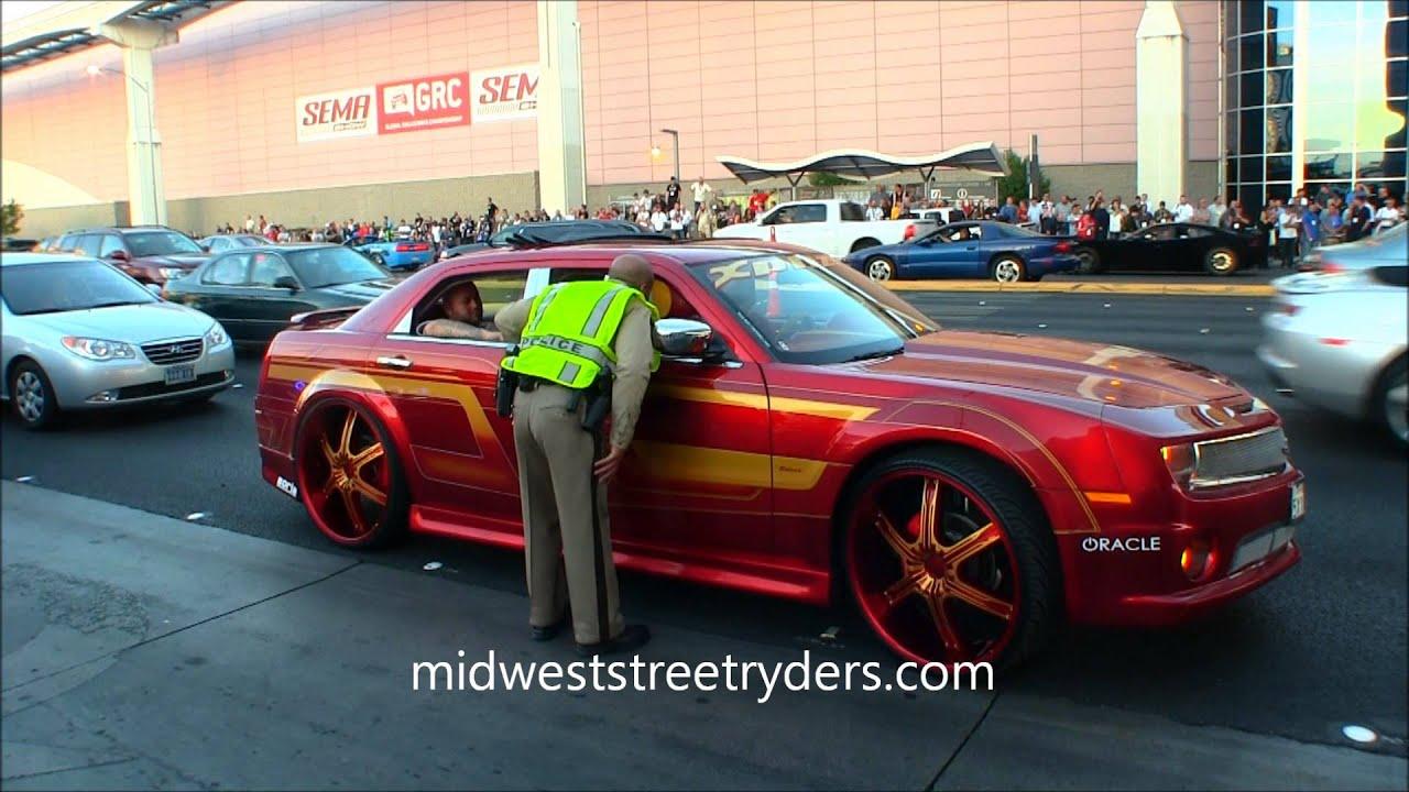 Custom Chrysler 300 >> CHRYSLER 300 CAMARO FRONT END XPLIZIT CC SEMA VEGAS 2012 MIDWEST STREET RYDERS - YouTube