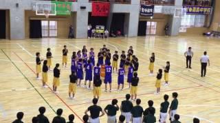 益城中女子バスケ部:試合前の円陣がカッコイイ!