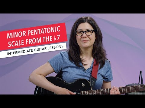 How to Play Guitar: Minor Pentatonic Scale from the b7 | Intermediate | Guitar Lessons