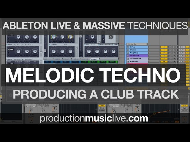 production music live ableton video, production music live
