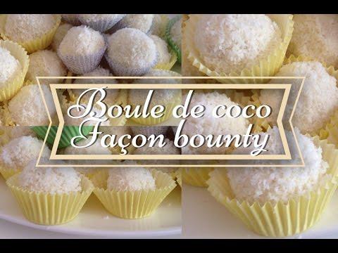 ✽Boule De Coco Façon Bounty ( Gâteau Aid).
