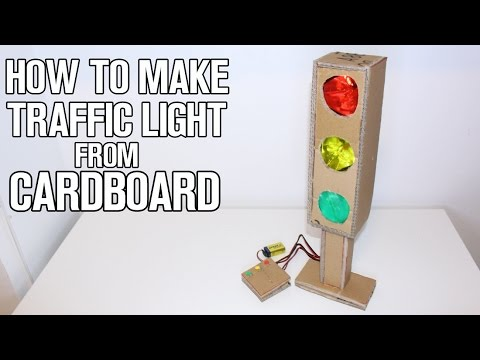 How To Make Traffic Light from Cardboard