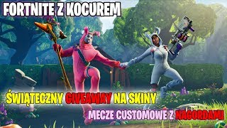 FORTNITE with a BLANKET-CHRISTMAS GIVEAWAY ON SKINS and custom MATCHES with PRIZES-I play with the Specttors