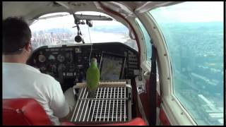 How to fly the Hudson River VFR SFRA demonstrated in Mooney M20J