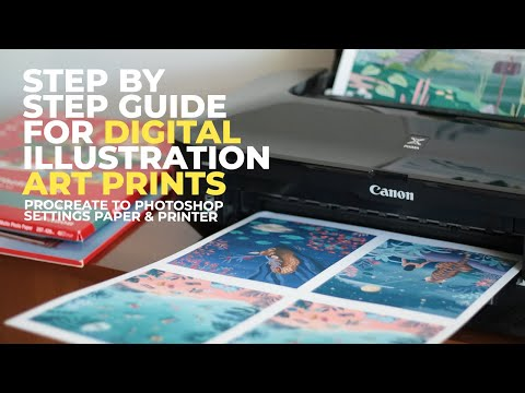 How To Prepare YOUR DIGITAL ARTWORK FOR PRINT | Step By Step Guide Digital Illustrations Art Prints