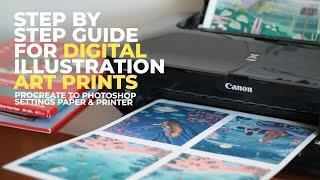 How To Prepare YΟUR DIGITAL ARTWORK FOR PRINT | Step by Step Guide Digital Illustrations Art Prints
