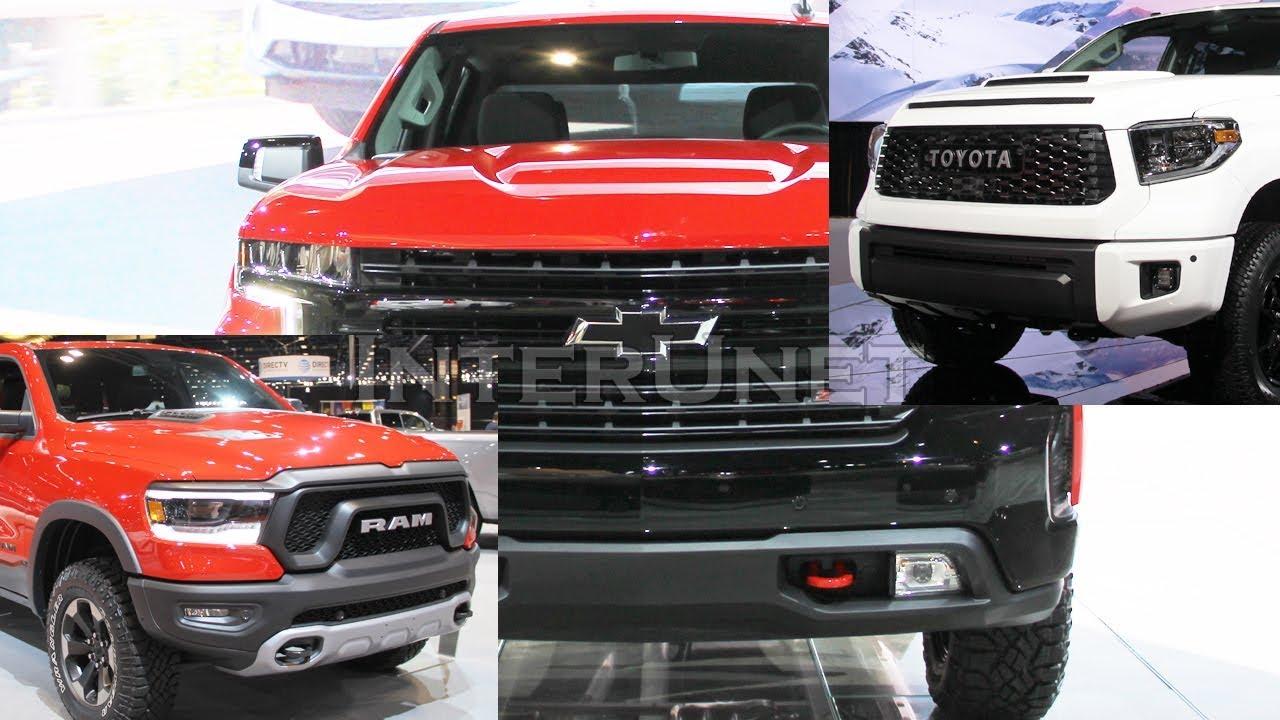 2019 Toyota Tundra TRD Pro vs 2019 RAM Rebel vs 2019 ...