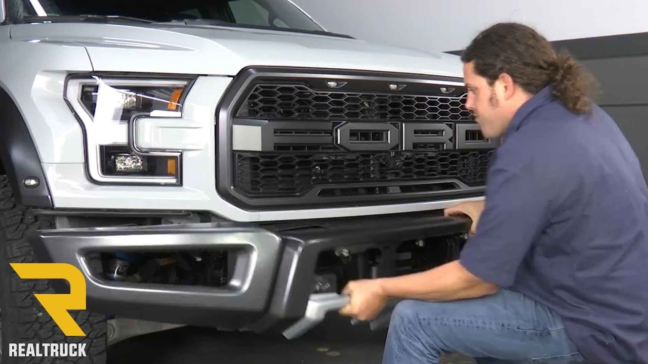 How To Remove Factory Front Bumper On 2017 Ford Raptor At