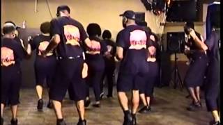 """BLUE NIGHT CHA"" LINE DANCE to (""BLURRED LINES"") 10.29.13"