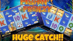 REELING IN 3 HUGE SLOT CATCHES ON FISHIN FRENZY? HOW BIG?