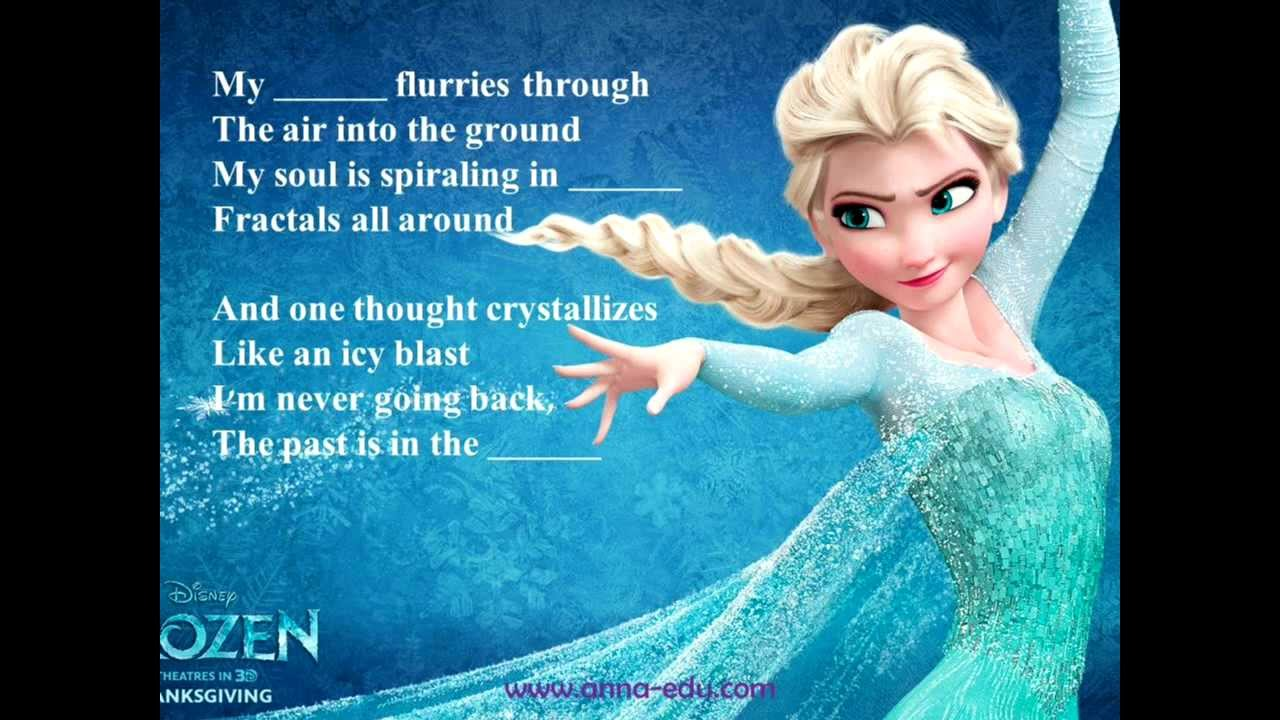 Let It Go - Frozen - Lyrics and Activities for English Learners - YouTube
